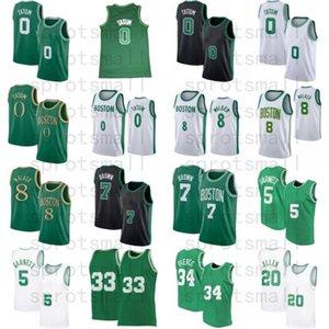 Kemba 8 Walker Jayson 0 Tatum Jaylen 7 Brown Rondo Kevin 5 Garnett Paul 34 Pierce 20 Allen كرة السلة جيرسي