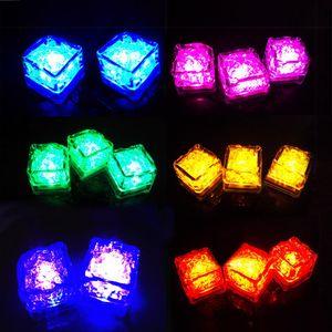 Mini Romantic Luminous LED Ice Cube Artificial Flash Light Flashing Sparkling LED Ice Cubes Festive Party Wedding Christmas Decoration