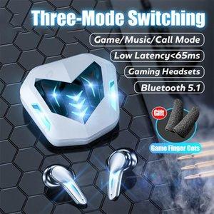 Headphones & Earphones Gaming Headsets 65ms Low Latency TWS Bluetooth 5.1 Headphone Sports Waterproof Wireless Earphone Noise Cancelling Ear