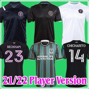Игрок версии MLS 2021 2022 La Galaxy Inter Miami CF футбол 22 22 Vela Chicharito Beckham Higuain Angeles Mens Футбольные рубашки