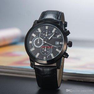 2021 Nova marca Montbl seis séries de agulha de alta qualidade mens relógio de luxo quartzo pequeno agulha run segundo cinto de couro cinto de couro relógio de moda