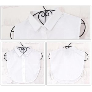 Neck Ties Women Polyester Fake Collar Blouse Vintage Detachable Shirt False Clothes Lapel Top Accessor T8G9