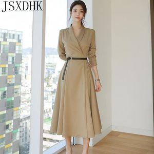 Jsxdhk herbst winter winter casual frauen mantel koreanische windbreaker berufsüberzug