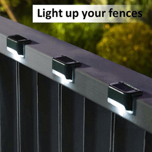 8PCS Solar Lights Solar Step Lights Outdoor Waterproof Led Stair Fence Lamp Decoration For Patio Stairs Garden Light