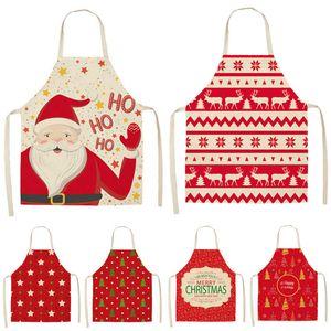 Decorazione natalizia Santa Red MOUWLless Breve Breve Biancheria Biancheria Biancheria da cucina Donne Donne Casa Cook Coda Bib Soverthrow MX0005