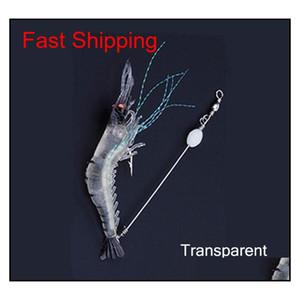 High Simulation Lure Soft Bait With Hook Fake Shrimp Fake Bait Bionic Shi GUe home2006