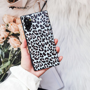 Leopard Phone Case for Samsung Galaxy Note 20 10 S20 Ultra Matte Silicone Black Luxury Case for Samsung S8 S9 S10 Plus Cover Hot