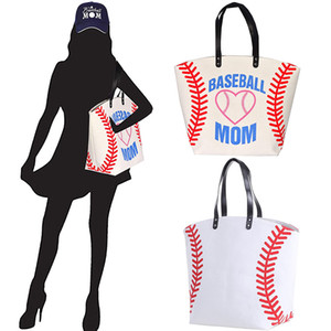 2021 Large Baseball Tote Bag Sports Prints Utility Tote Beach Bag Travel Bag