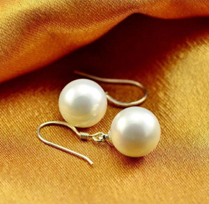 Elegant Round Imitation Pearl Drop Earrings For Bride Women Engagement Wedding Graceful Accessories Fashion Classic Earrings Cheap Jewelry