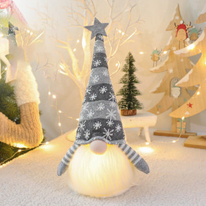 2021 New Christma Deco Noel Hanging Santa Gnome Plush Doll Christmas Ornament Xmas Elf Lamp Kids Gifts Party Decor 7kgr