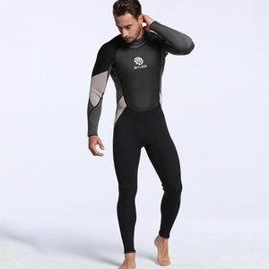 LumiParty Men Wetsuits Super-stretch Armpit Jumpsuit 3mm Neoprene Full Body Diving Suit Rash Guard Long Sleeve Shirt