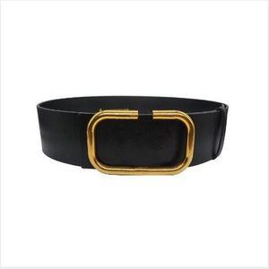 2022 Concepteur Mode Femme 7cm Courroie large, Noir, Corps rouge, Boucle de ceinture d'or En Gros, AA880