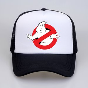 NEW Ghostbusters Movie cap Cartoon print Baseball caps cool Summer Mesh Trucker Cap men Women Adjustable snapback hats gorra C0305