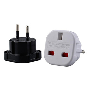 Black / White UK US в EU Universal Travel Charger Strapter Plug Converter 2 PIN-код Стеновой вилки Разъем AC Plug Bey