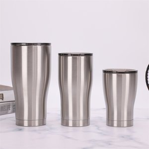 12oz 20oz 30oz Stainless Steel Cups Thermos Tumbler Travel Coffee Beer Mug Double Wall Insulated Water Cup Vacuum Flask Seal Lid JY0693