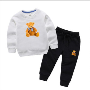 Bear Brand Luxury Designer Baby Autumn Clothes Set Kids Boy Girl Long Sleeve Hoodie and Pants 2Pcs Suits Fashion Tracksuits Outfits