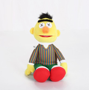 Seesame Street Kaws 5 Модели плюшевые игрушки ELMO / Big Bird / Ernie / Monster Фаршированные Лучшие качества Большие подарки для детей