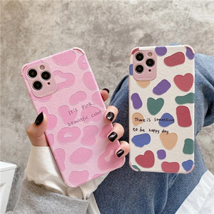 Fashion Pink Leopard Print Phone Case For iPhone 12 Pro Max 11 Pro XS Max 7 8 Plus Soft Back Phone Cover Case