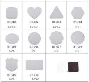 Sublimation Aimants de réfrigérateur vierge 10 styles DIY SUBLIMATION BLANCS BELLE Magnet Soft Réfrigérateur Magnet Accueil Décorer DHL GRATUIT 62 S2