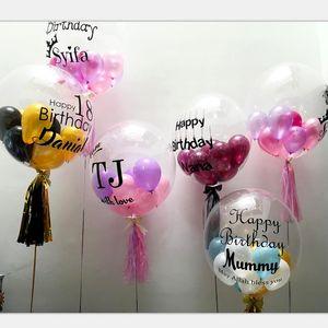 Clear Foil Helium Воздушные шары Творческие BOBO Воздушные шары Свадебный Душ Рождественские Новогодние Декор Декор Вечеринки Прозрачные Baloons Детские Игрушки 160 Y2