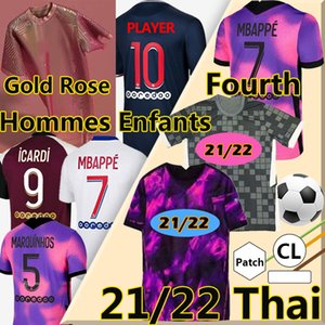 Neu 21/22 Psg NEYMAR JR MBAPPE ICARDI soccer jersey Fußball Trikots 2020 2021 Paris Saint Germain Trikot Fußball Kit Fußball Shirt Frauen Fußball Trikot soccer jerseys