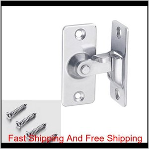 Stainless Steel 90 Degree Right Angle Buckle Hook Lock Bolt,For Sliding Door,Mini But Strong,Surface Mounting,Hardware Locks 201013 Kx 5B6Gi