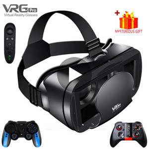 3D VR Headset Smart Virtual Reality Glasses 7 Inches Helmet for Smartphones Phone Android iPhone Lens with Controller Binoculars