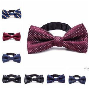 Formal Gentleman Neck Tie kid Bowtie Children's Bow Tie Colorful Bowtie Star Check Polka Dot Stripes DHA4031
