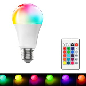 Dimmable RGB LED Bulbs 10W E27 LED Light Bulb Hight Brightness 980LM White RGB Bulb 220 270 Angle With Remote Control In Stock