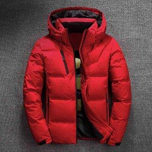 Роскошный бренд мужской пуховик внизу 2021 зимняя куртка мужское качество термическое толщиное пальто снег красный черный парку мужской теплый вариант моды - белый duc
