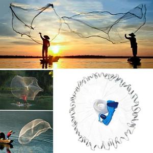 8ft 2.4m Filet de pêche Bait Easy Jet Filet Pêche Outil Petite maille Tour à la main en plein air