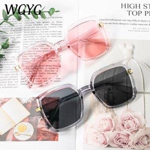 2021 Yeni Bayanlar Güneş Gözlüğü High-end Bayanlar Güneş Gözlüğü Retro Kare Çerçeve Gözlük Marka Degrade
