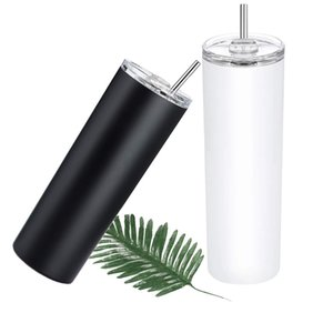 Sublimation Tumbler Foreign Trade Stainless Steel Travel Cup Outdoor Car Heat Preservation Cup with Straw Straight Glass Cold Preservation L