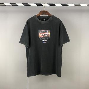 2021 Avrupa Amerikan Vintage Mighty Modelleri Araba Araç Fotoğraf Tee Kaykay Erkekler T Gömlek Kadın Sokak Kaykay Rahat Pamuk Tişört