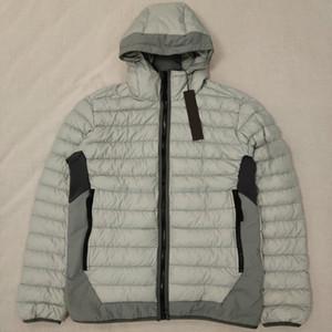 새로운 40124 다운 재킷 탑 겨울 코트 화이트 오리 아래로 찌꺼기 후드 재킷 S-3XL 검정 / 다크 그레이 / 그레이