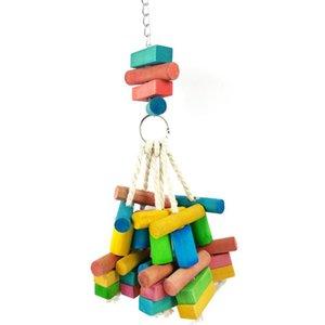 Doğal ahşap oyuncak yaratıcı papağan ısırma oyuncak kuş papağan taşınabilir kuş pet malzemeleri kafes aksesuarları