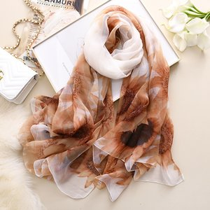 Spring autumn new Japanese and thermal scarf sun protection holiday beach towel Korean crocodile wrinkle thin air conditioning V82K