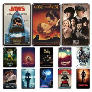 2021 Classic Film Poster Metallplatte Vintage Pate Cinemas Zinnzeichen Retro Wandaufkleber Dekorative Plaque Shabby Chic Film Wohnkultur