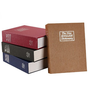 Book Piggy Bank Creative English Dictionary Money Storage Box with Lock Safe Deposit Box Home Mini Cash Jewelry Security Storage Box 699 K2