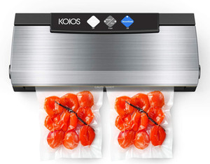 KOIOS Vacuum Sealer, 80Kpa Automatic Food Sealer with Cutter, 10 Sealing Bags, With Up To 40 Consecutive Seals, Dry & Moist Modes, Compa