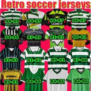 سلتيك ريترو جيرسي 1991 1993 1998 1999 1984 1986 1986 1996 06 08 قمصان كرة القدم لارسون كلاسيك خمر ساتون 1995 1997