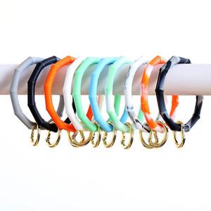 Fashion Bamboo Silicone Bracelet Key Chain Anti-lost Portable Handheld Keychain Personality Bracelet Bangle Keyring