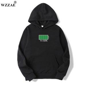 WZZae Brand 2019 Uomo Felpa con cappuccio in cotone Felpa in cotone Solido Stampa Trend comodo pullover cappotto di pullover caldo vestiti autunno e winte