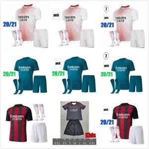 20 21 milan soccer jersey kits AC 2020 2021 IBRAHIMOVIC PIATEK football shirt PAQUETA BENNACER THEO TONALI camisa de futebol sets uniforms