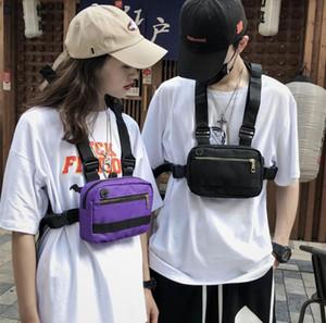 Streetwear Männer Tasche Taktische Weste Hip Hop Style Crossbody Brusttaschen Packungen für 2020 Mode Punck Brust Rig Weste Taille Tasche Unisex