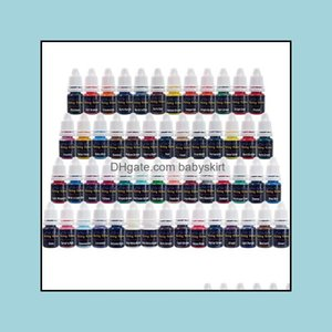 Inks Tattoos Body Art Health & Beautywholesale- Solong Ink Pigment Set (8Ml) 54 Color For Tattoo Hine Gun Kit Ti2001-8-54 Drop Delivery 2021
