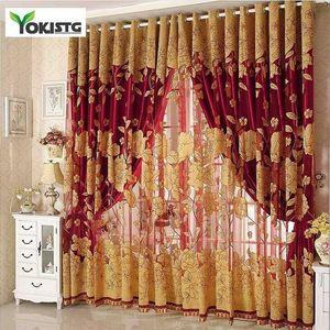 Para Lujo Bordado Cortinas Sheer Yokistg Living Habitación Moderna Habitación Dormitorio Cocina Cortinas Tul Cortinas Drapas Ventanas Tratamientos