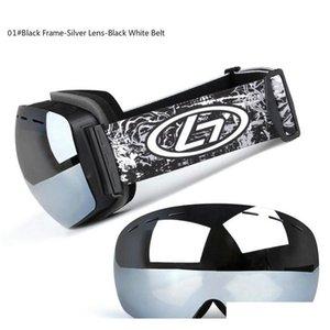 Wholesale Fashion Professional Ski Goggles Double Layer Anti-fog Ski Mask Glasses Men Women Myopia Skiing Snow S jllBON xmhyard