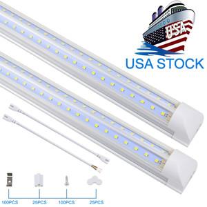 T8 통합 이중 행 LED 튜브 2FT 4FT 8FT 72W 100W SMD2835 LED 튜브 라이트 LED 조명 형광성 최고의 품질