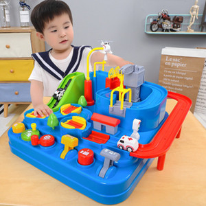 Rail Model Racing Educational Toys Children Track Car Adventure Brain Game Mechanical Interactive Train Toy